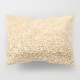Beautiful champagne gold glitter sparkles Pillow Sham