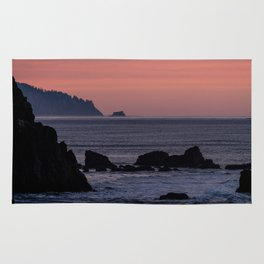 Oregon Coast Sunset Rug