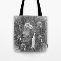 indian Tote Bags featuring Indian by  Agostino Lo Coco