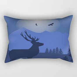 Mystical Night in the Mountains Rectangular Pillow