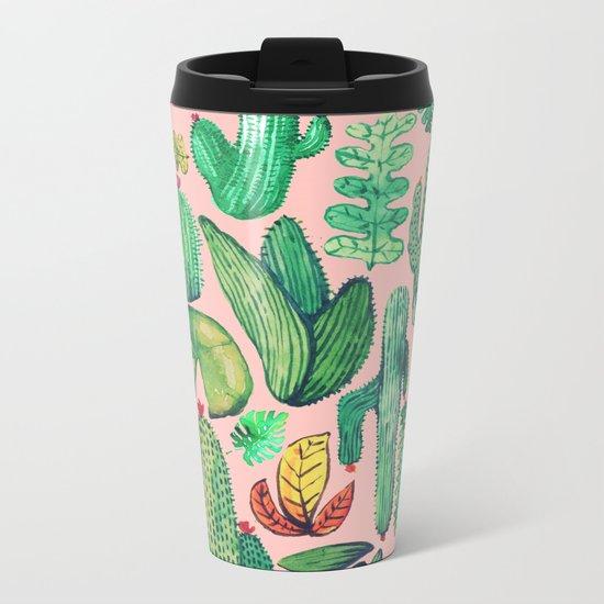 Nature Mix Pink!! Metal Travel Mug