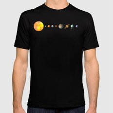 The Solar System Black SMALL Mens Fitted Tee