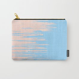 Carefree - Sweet Peach Coral Pink on Blue Raspberry Carry-All Pouch