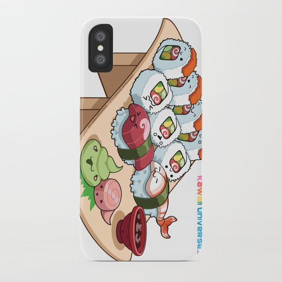 Kawaii California Roll and Sushi Shrimp and Tuna Nigiri iPhone Case