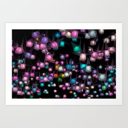 Crystal night Art Print
