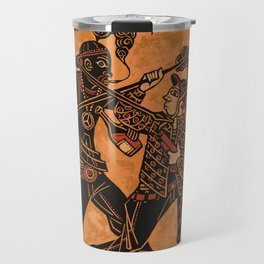 Ancient Greek Pottery painting gangsters Travel Mug