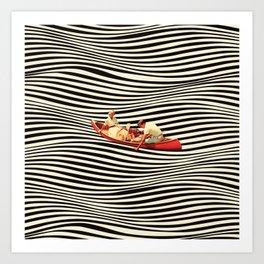 Illusionary Boat Ride 2 Art Print