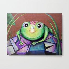 Nosy Frog Metal Print