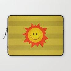Smiling Happy Sun Laptop Sleeve