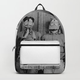American, British, French, & German Gas Masks Backpack