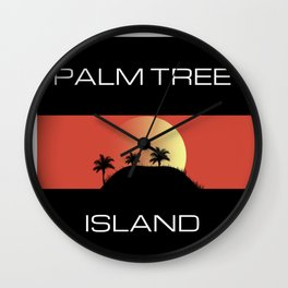 Palm Tree island Wall Clock