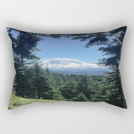 peek-a-boo Mount Rainier Rectangular Pillow