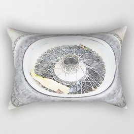 Vintage Wire Wheel Rectangular Pillow