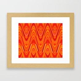 Waves of Orange Framed Art Print