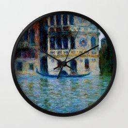 """Claude Monet """"Le Palais Dario"""" Wall Clock"""