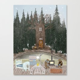 house of bear Canvas Print
