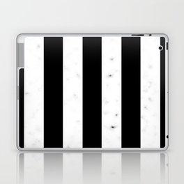 Marble Stripes (Black) Laptop & iPad Skin