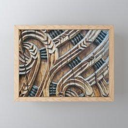 A Maori Carving Framed Mini Art Print