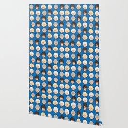The Golden Girls Blue Pop Art Wallpaper