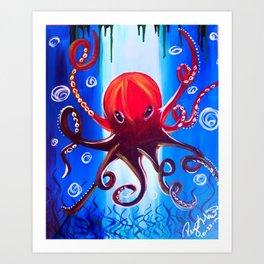 Dancing Octopus Art Print