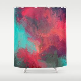 Passionate Firestorm Abstract Painting Shower Curtain