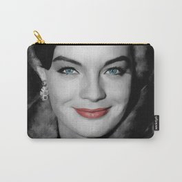 Romy Schneider Large Size Portrait Carry-All Pouch