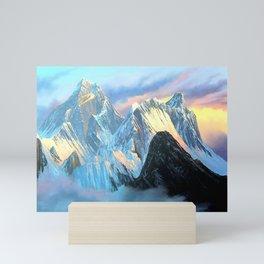 Panoramic Sunrise View Of Everest Mountain Mini Art Print