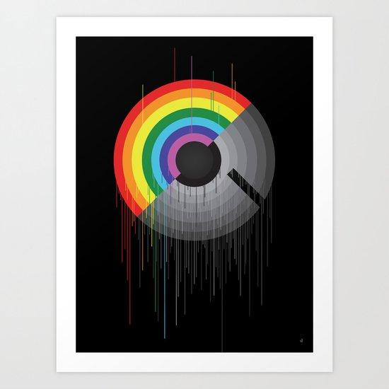 Rainbow Album  Art Print