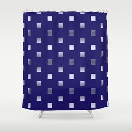 Dash / horizontal line dotted pattern Shower Curtain