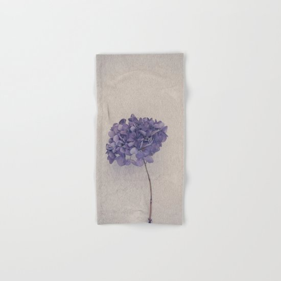 Dried Blue Hydrangea II Hand & Bath Towel