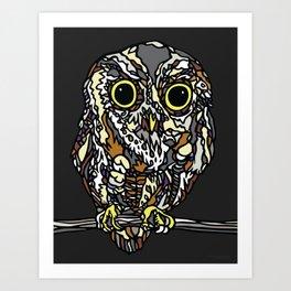 """""""HOOTIE"""" the Owl by Schmiedlin 2013 Art Print"""