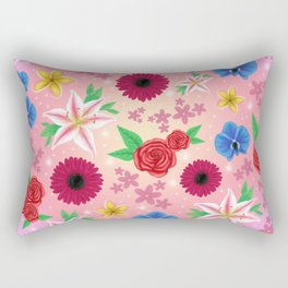 Floral collage Rectangular Pillow