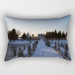 Ocean Snow Rectangular Pillow