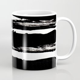 Black Brush Coffee Mug