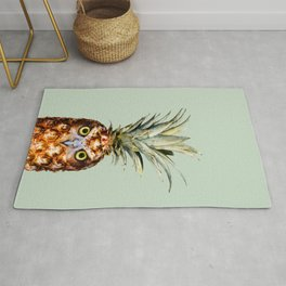 PINEAPPLE OWL Rug