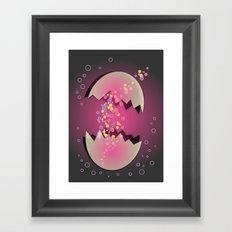 Bubble Egg Framed Art Print