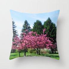Crab Apple Trees Throw Pillow