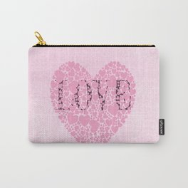 Pink Hearts Carry-All Pouch