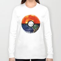 pokeball Long Sleeve T-shirts featuring Galaxy Pokeball by Advocate Designs