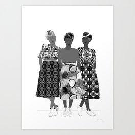 B&W GRLZ BAND Art Print