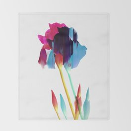 Glitches Iris Throw Blanket