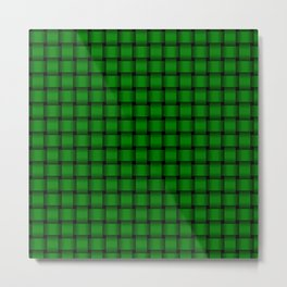 Small Green Weave Metal Print