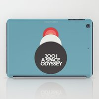 2001 a space odyssey iPad Cases featuring 2001 a Space Odyssey - Stanley Kubrick Movie Poster by Stefanoreves