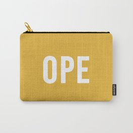 OPE Mustard Carry-All Pouch