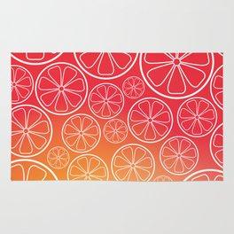 Citrus slices (red/orange) Rug