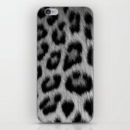 Leopard print in black and white iPhone Skin
