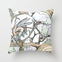 Birth of a Fairy Throw Pillow