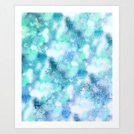 Cracked Geode Art Print