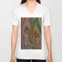 sublime V-neck T-shirts featuring Sublime Compatibility (Intimate Reciprocity) by Jodi Bee