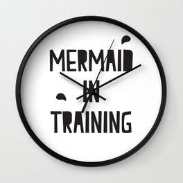 Mermaid in training Wall Clock